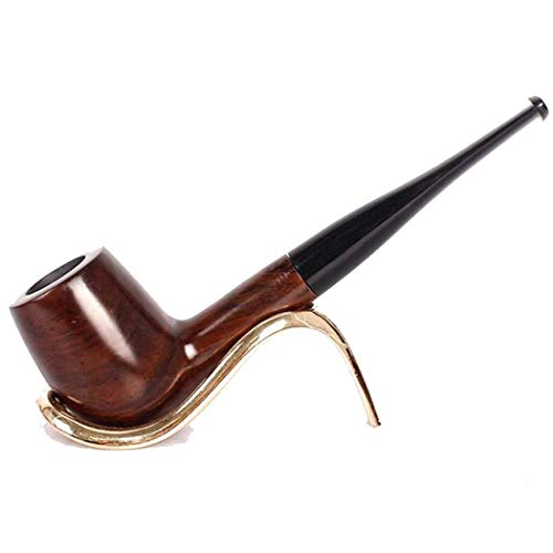 RMXMY Kreative handgefertigte, handgeschnitzte Massivholzpfeife, die altmodisches gerades Rauchzubehör raucht - Bubbler Wasser-pfeife Für Tabak