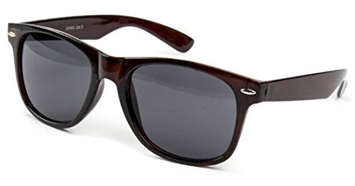 Sonnenbrille Nerdbrille Nerd Retro Look Brille Pilotenbrille Vintage Look - ca. 80 verschiedene Modelle Viele Farben Vari 2, Braun Classic,