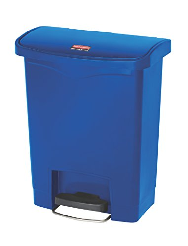 rubbermaid-1883591-30l-8g-fs-slim-jim-step-on-a-pedal-azul-cubo-de-plastico-plastico-425-x-27-x-54-c