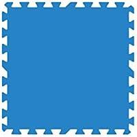 Gre MPF509 - Protector de suelo de piscina en Polietileno, 9 piezas de 50x50cm, color azul