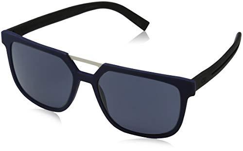 Dior Herren DIOR0200S 72 EMC Sonnenbrille, Blau (Bluette Black Rubber/Bluee), 55