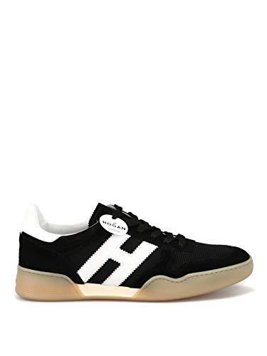 Hogan Sneaker Sportive Nere in Nabuk e tecnotessuto HXM3570AC40IPJ9999 Nero Uomo 5