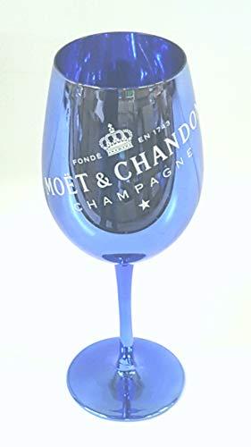 Moet & Chandon 1 Imperial Champagner Glas Blue (Echtglas) blau