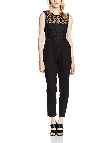 French Connection Chelsea Beau S/Lss Jumpsuit, Tuta Donna, Nero, 44