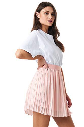 NA-KD - Damen Miniröcke Plissiertes Röcke Rosa