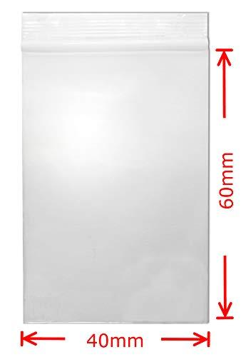 Druckverschlussbeutel 40x60 mm 90my 100 Stück wasserdichte wieder-verschliessbare Zip-Beutel kleine Beutel mit Verschluss Baggies oder Tütchen von WeltiesSmartTools -
