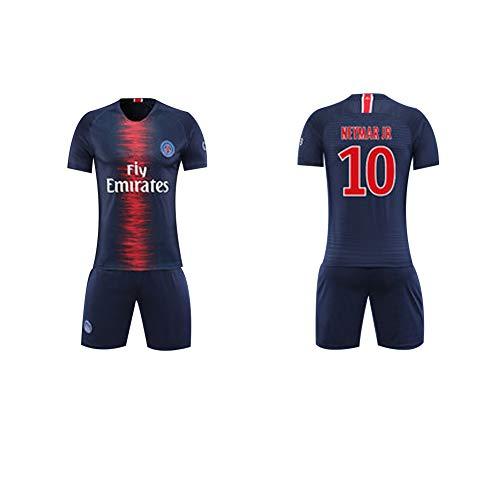 Fútbol Club Barcelona Heimfeld Mbappe 7# Neymar JR 10# Jungen Mädchen Kinder Erwachsene Männer Frauen Jersey Fußball Fußball Shorts Top Vest Kit-10-L -