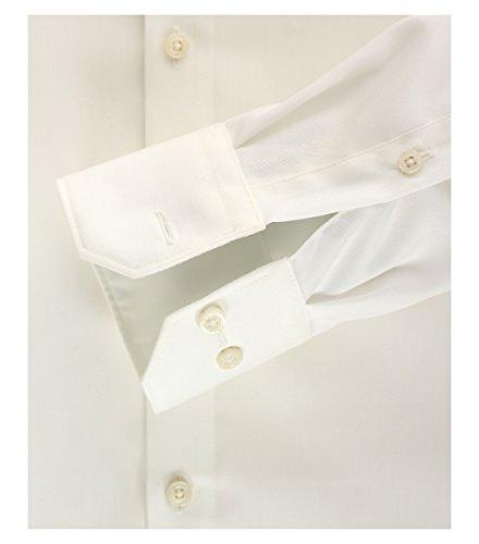 Venti - Slim Fit - Bügelfreies Herren Business Hemd mit Extra langem Arm (69cm) in verschiedenen Farben (001489) Creme (002)