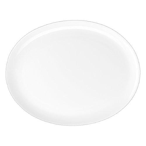 ASA 1987013 de Table Plat Ovale en Céramique, Blanc, 40 x 32 x 10 cm