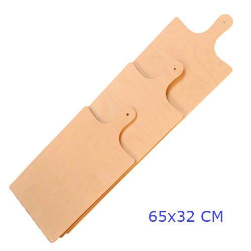 Panetta casalinghi rettangolare meter pizza tagliere, legno di betulla, beige, 65x 1.2x 32cm