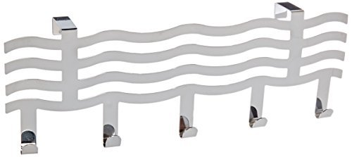 DealMux Wave Shape Over Towel Iron Door Hook, Silver Tone