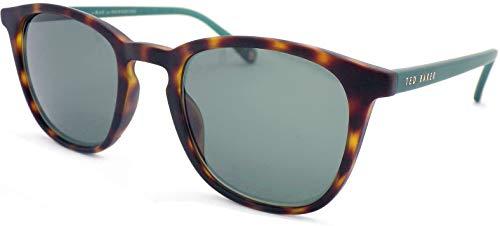 Ted Baker Herren Riggs Sonnenbrille, Braun (Tortoise/Green), 50.0