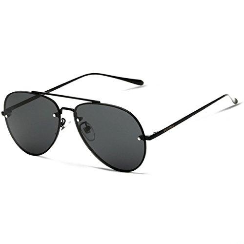 Wkaijc Männer Bunt Polarisiertes Licht Randlos Edelstahl Jurte Mode Persönlichkeit Sonnenbrillen,C
