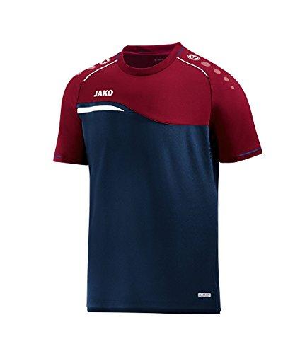 Preisvergleich Produktbild JAKO T-Shirt Competition 2.0,  Größe:S,  Farbe:Marine / dunkelrot