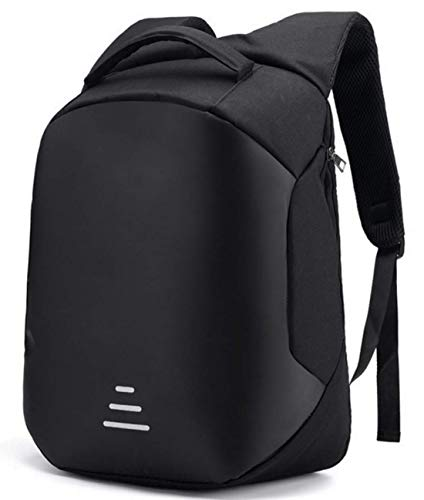 Deals Outlet Anti Theft Backpack with USB Charging Port 15.6 Inch Laptop Bagpack Waterproof Casual Unisex Bag for School College Office Suitable for Men Women (Black)