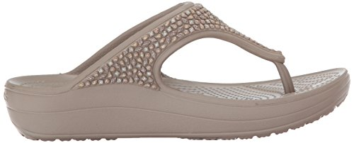 204181 Crocs Sloane Embellished Flip - 0C4 Black Multi Mushroom