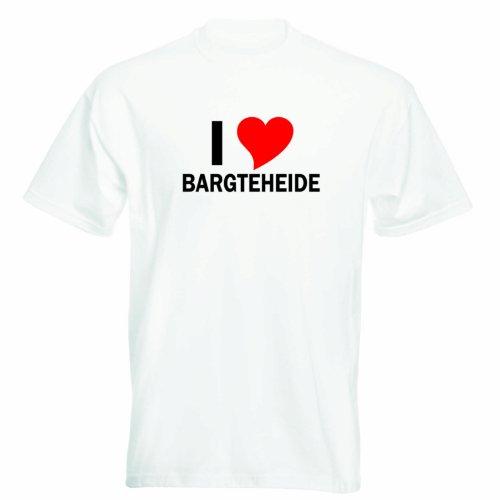 T-Shirt mit Städtenamen - i Love Bargteheide - Herren - unisex Weiß