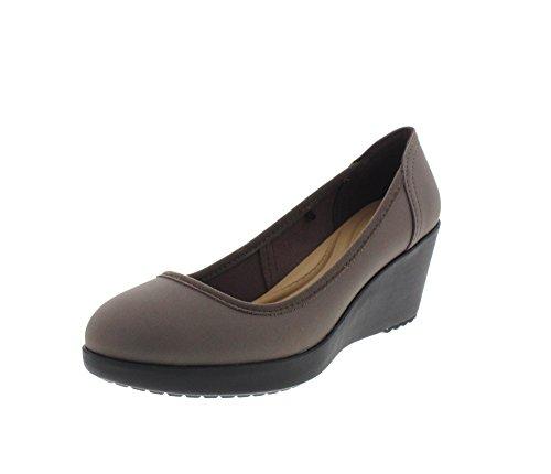 CROCS Damenschuhe - MARIN COLORLITE WEDGE pewter black, Größe:37-38