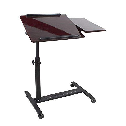AI LI WEI Lebendes Büro/einfacher Ablagetisch Portable Laptop Tisch Nachttisch Studie Tisch bewegen Desktop einstellbar, 2 Farben (Farbe: Weiß Ahorn Farbe, Größe: 70x40CM) -