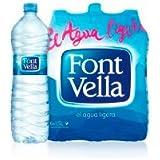 Font Vella Botellas de Agua - Paquete de 15 x 1000 ml - Total: 15000 ml
