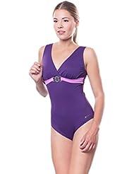 Shepa Badeanzug mit Softcups und breiten Trägern Schwimmanzug Badekostüm Offener Rücken