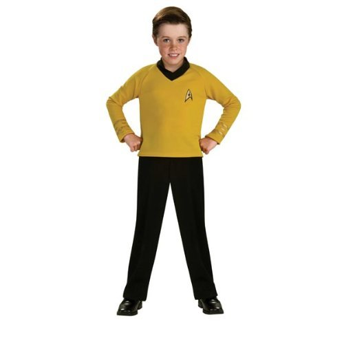 Rubies Kost-me 185919 Star Trek Classic Gold Kinderkost-m Gold-Medium - 8-10