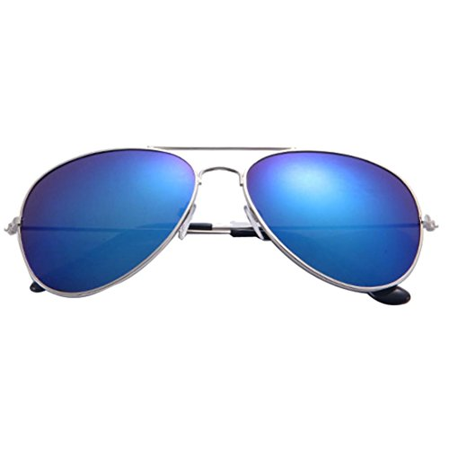 Unisex Sonnenbrille FORH Damen Herren Vintage Classic Sunglasses Katzenaugen Brille Metal Designer Pilotenbrille Eyewear Spiegel für Autofahren Outdoor Reisen Party und Freizeit (F)