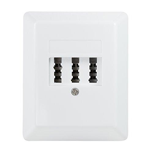 BIGtec Tae NFN Dose Aufputzdose Anschlussdose AP Telefondose 3x6-polig signalweiß weiß