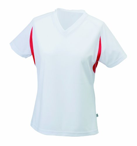 James & Nicholson Damen T-Shirt White/Red