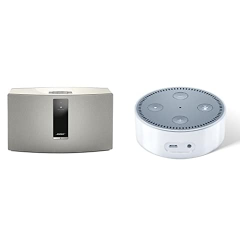 Bose SoundTouch 30 Series III kabelloses Music System weiß + Amazon Echo Dot (2. Generation), Weiß