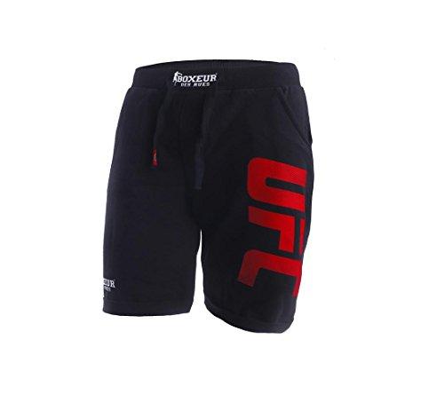 BOXEUR DES RUES Bx-1805h Pantalón Corto con Logotipo UFC, Hombre, Negro, S