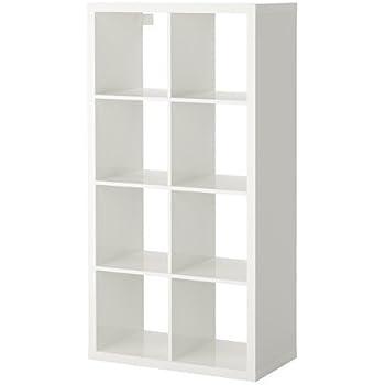 Ikea KALLAX Regal in Hochglanz weiß; (77x147cm); Kompatibel mit ...