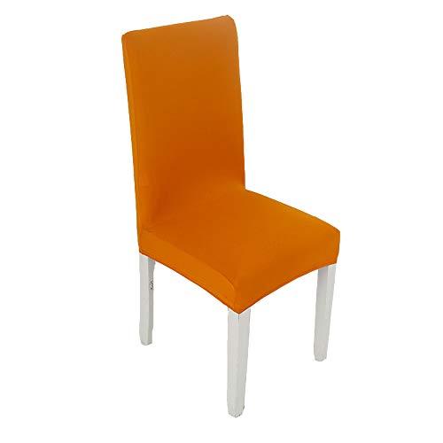Parsons Stuhl Stoff Stuhl (Spandex Stoff Stretch Esszimmer Stuhl Hussen, Stretch Stuhl Möbel Protector Abdeckungen abnehmbar und waschbar (Set 4/6))