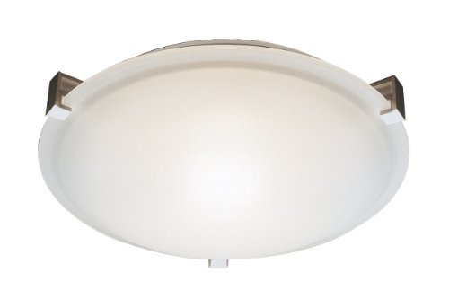 Trans Globe Lighting Frosted Clipped Flush Mount, 12, White by Trans Globe Lighting -