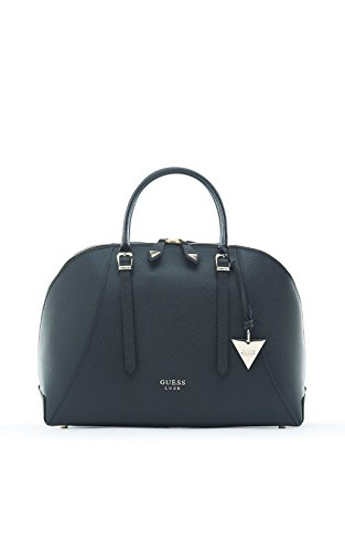guess-womens-lady-luxe-dome-satchel-wristlet-black-size-one-size
