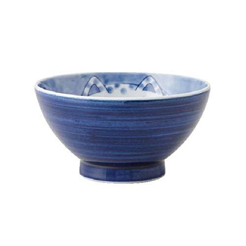 Yamani Pottery 36190023 Bol japonais en céramique Motif chat endormi Fait main du Japon 11,5 cm