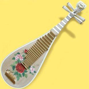 Professionelles Instrument Chinesischen Laute Gitarre Pipa Neu Bemalt B/Zubehör -
