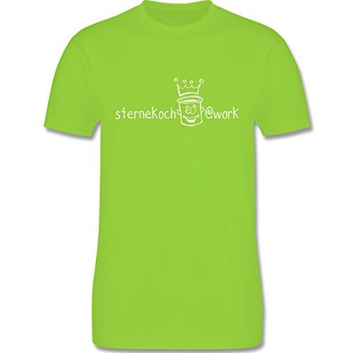 Küche - Sternekoch - Herren Premium T-Shirt Hellgrün