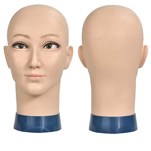 ErSiMan Cosmetology Mannequin-Kopf für Perücken, Hut, Display Brille, Friseur-Übung, Puppenkopf mit Klemme