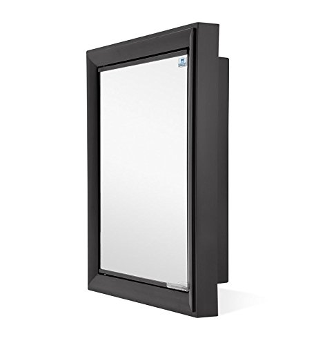 Nilkamal Gem Mirror Cabinet (Black)