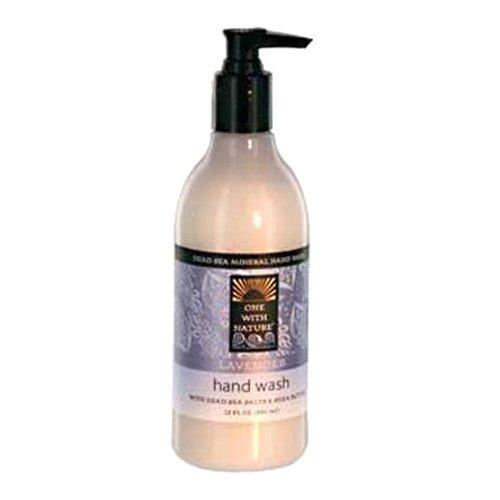 One With Nature Lotion nettoyante pour les mains - Parfum de lavande - Sels minéraux de la Mer morte et beurre de karité hydratant - 360 ml