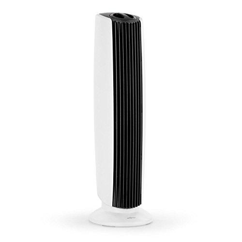 OneConcept St. Oberholz XL - Luftreiniger, Ionisator, Lufterfrischer, Luftionisierer, Turmventilator, 5 Watt, integrierter Lüfter, Ventilator, UV-Sterilisator, leise, sparsam, weiß