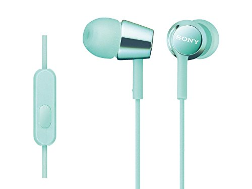 Sony Sony Earphone MDR-EX150AP: Mint with Canal-Type Remote Control, Microphone Blue MDR-EX150AP L