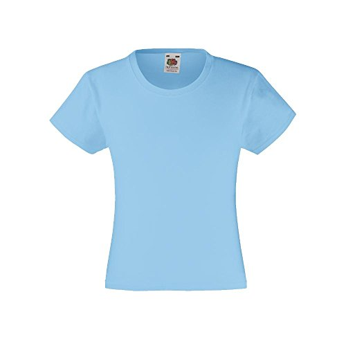 Fruit of the Loom - Girls Value Weight T 152,Sky Blue