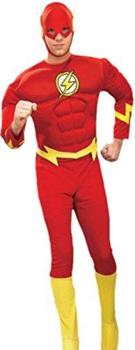 erdbeerloft - Herren The Flash Kostüm, Karneval, Fasching, M, (Flash Theory Kostüm Big Bang)