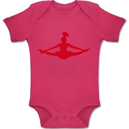 Sport Baby - Cheerleading - 12-18 Monate - Fuchsia - BZ10 - Baby Body Kurzarm Jungen Mädchen