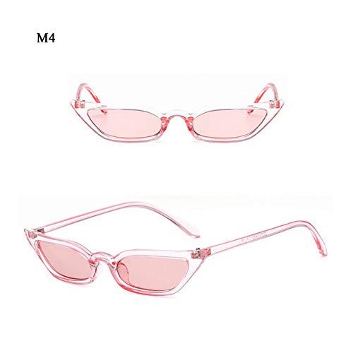 SKCLBOOS Sonnenbrillen Frauen cat Eye rote linsen Sonnenbrille 70 s 80 s 90 s high Fashion cateyes Brillen transparent Rahmen Damen Neigung schmale Brille