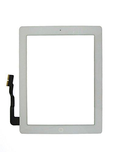 Preisvergleich Produktbild iPad 3 Ersatz Display Scheibe weiß Kleber Touchscreen Digitizer Home Button