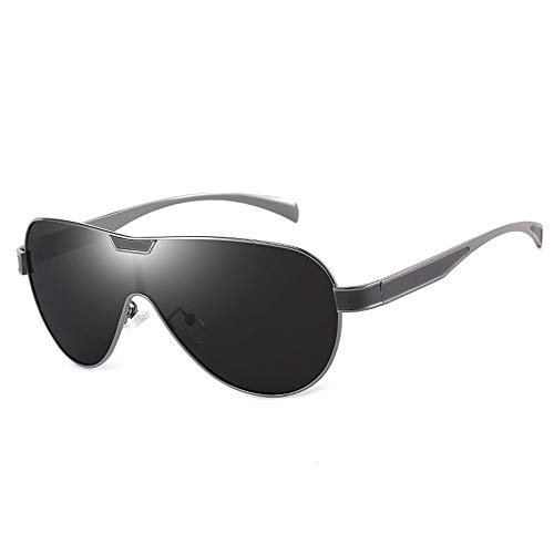 Siamesische Linse Reiten Outdoor-Sportarten Bergsteigen Tourismus Fahren Sonnenbrillen UV-Schutz Metallrahmen Ultra Light Herren/Damen Polarisierte Sonnenbrille Brille (Farbe : Black)