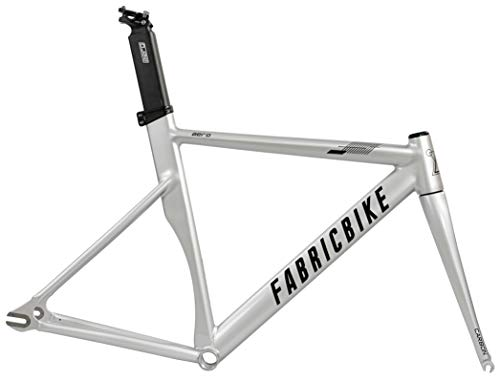 FabricBike AERO - Fixed Gear Fahrrad Rahmen, Single Speed Fixie Fahrrad Rahmen, Aluminium Rahmen und Carbon-Gabel, 5 Farben, 3 Größen, 2,145 kg (Größe M) (Space Grey & Black, L-58cm) -